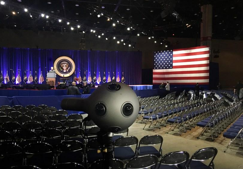 奥巴马卸任演讲 VR直播全程陪同