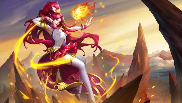 【新皮肤】炽焰火女-纵火魔女